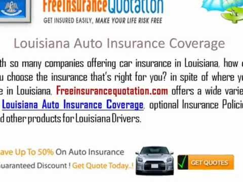 Louisiana Auto Insurance Company - Cheap Louisiana Auto Insurance