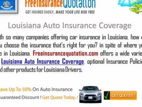 Louisiana Auto Insurance Company - Cheap Louisiana Auto Insurance