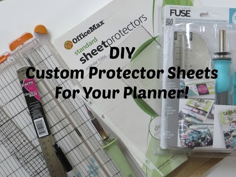 DIY | CUSTOM PROTECTOR SHEET FOR YOUR PLANNER