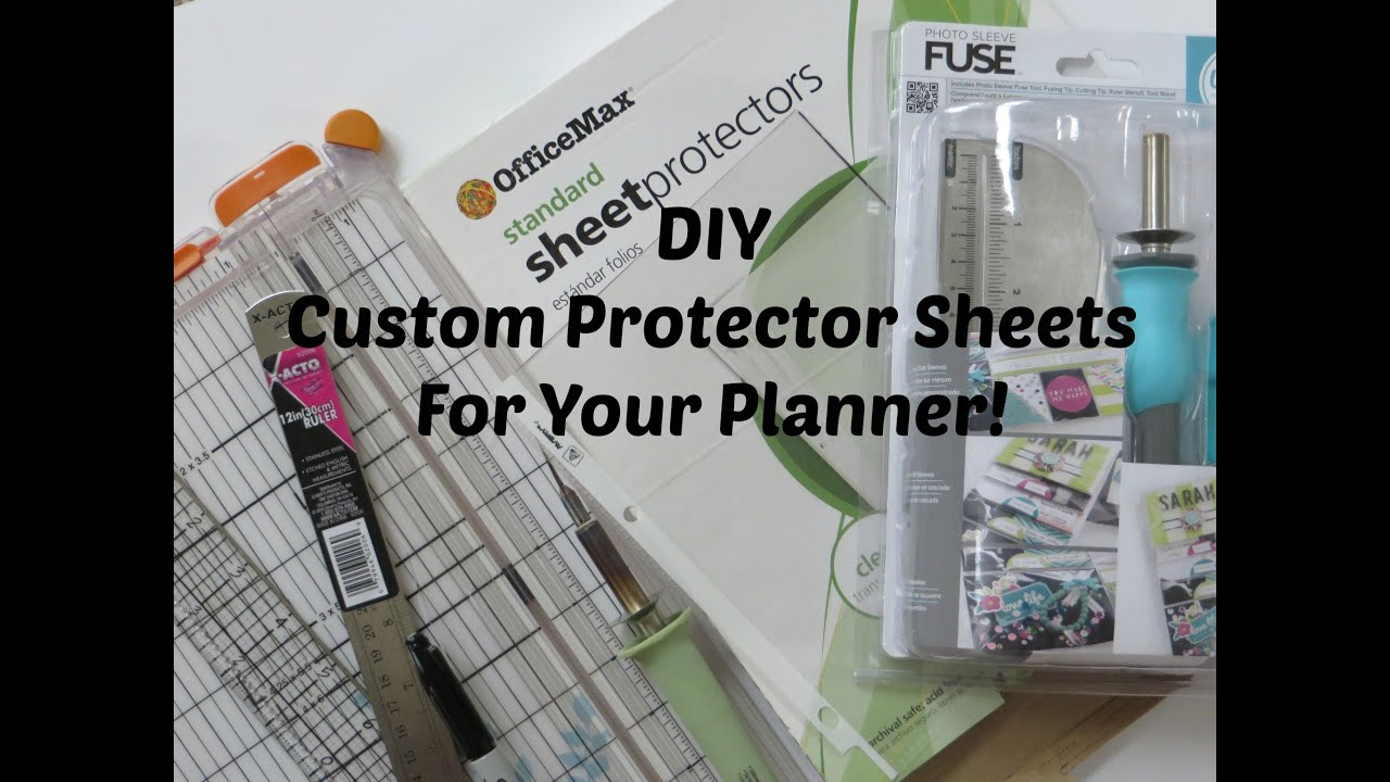 DIY | CUSTOM PROTECTOR SHEET FOR YOUR PLANNER - YouTube