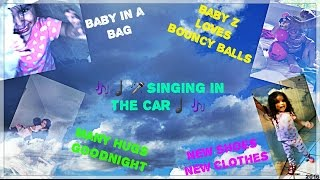 🤗😆BABY IN A BAG BABY Z LOVES BOUNCY BALLS ⚽⚾⚽NEW SHOES NEW🤗 CLOTHES SINGING 🎤🎶♩THEMTZVLOGS