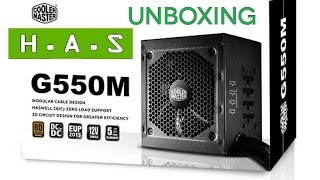 Unboxing Cooler Master 550w 80 Plus Bronce