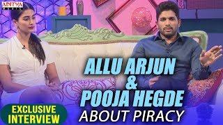 Allu Arjun & Pooja Hegde About Piracy || Allu Arjun & Pooja Hegde Exclusive Interview About DJ