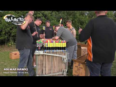 Ultimate Rocket Volley From Galactic Fireworks - 400 War Hawks from Bright Star Fireworks