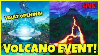 NEW EVENT COUNTDOWN TIMER! NEXUS LOOT LAKE OPENING + VOLCANO ERUPTING NOW! FORTNITE CUBE LIVE
