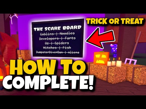"""HOW TO COMPLETE """"THE SCARE BOARD"""" (DAY 1) IN HALLOWEEN UPDATE! Wacky Wizards Roblox 