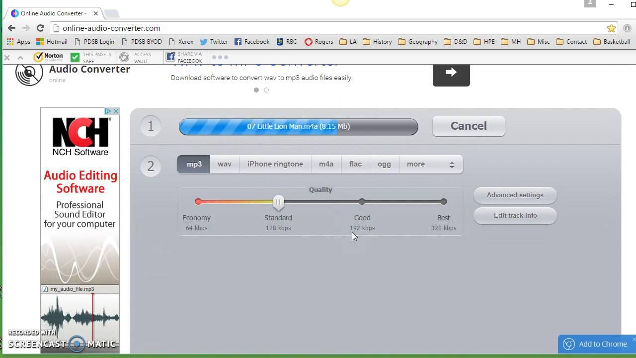 Reformatting an Audio file Using Online Audio Converter