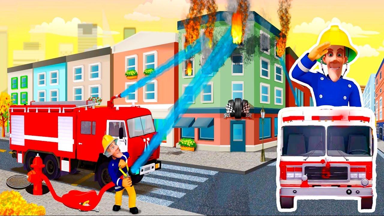 Worksheet. Bomberos animados para nios en espaol 15 MIN Coche bomberos