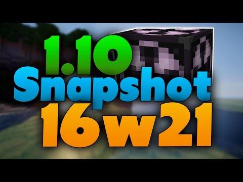 Neues Angelfeature! & Structure Block Update! - Minecraft 1.10 Snapshot 16w21