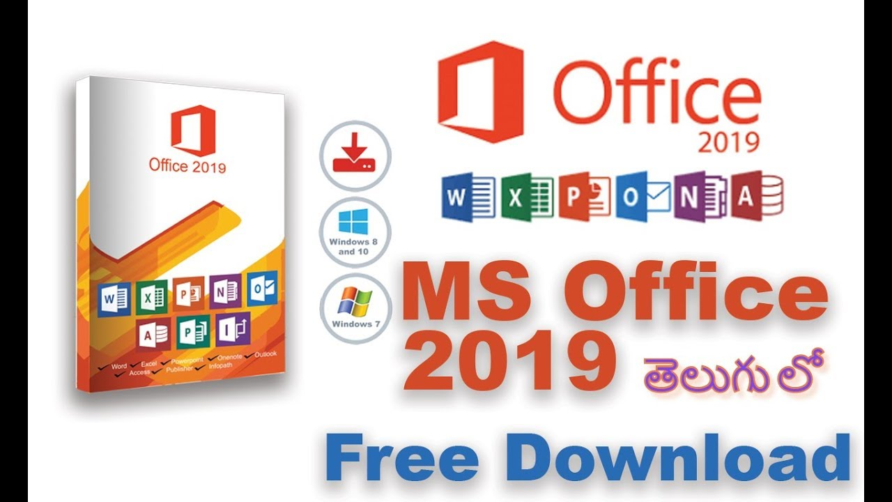 How to Install Microsoft Office 2019   in Telugu - YouTube