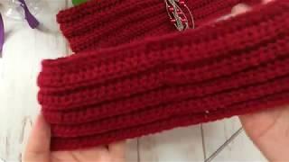 Вязаная повязка на голову крючком без шва. Повязка-чалма для девушки.