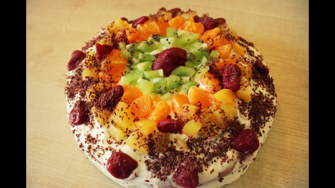 Торты с фото фруктовые
