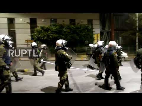 Greece: Riots continue overnight as anarchists clash with police in Thessaloniki