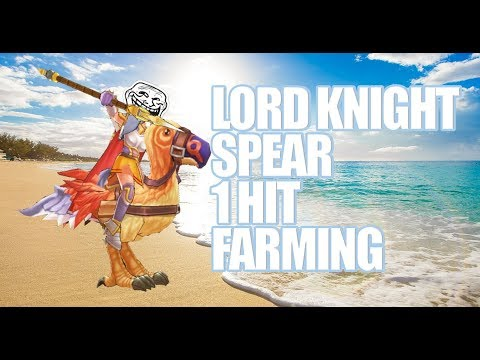 Ragnarok Mobile : Lord Knight Spear Build 1 Hit Farming