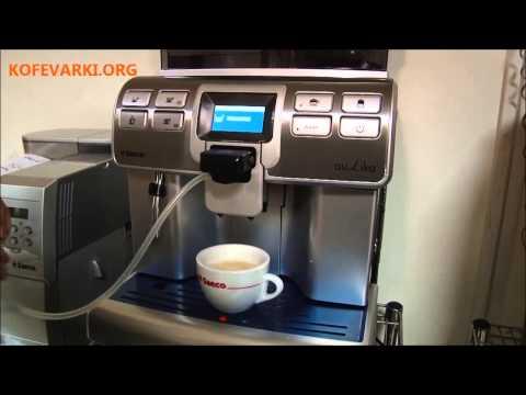 Видео обзор кофемашины Saeco Aulika TOP