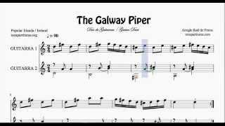 The Galway Piper Partitura de Dúo de Guitarra Duet Guitar Sheet Music