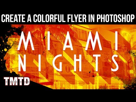 Photoshop Tutorials: Create a Colorful Flyer in Photoshop