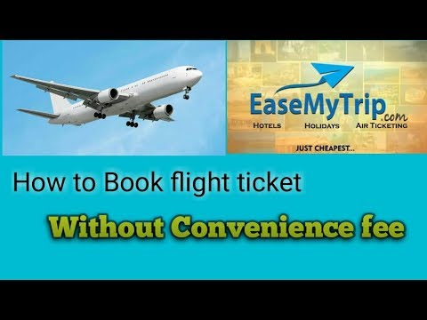 How To Book Flight Ticket Online | No Convenience Fee|  With Ease My Trip