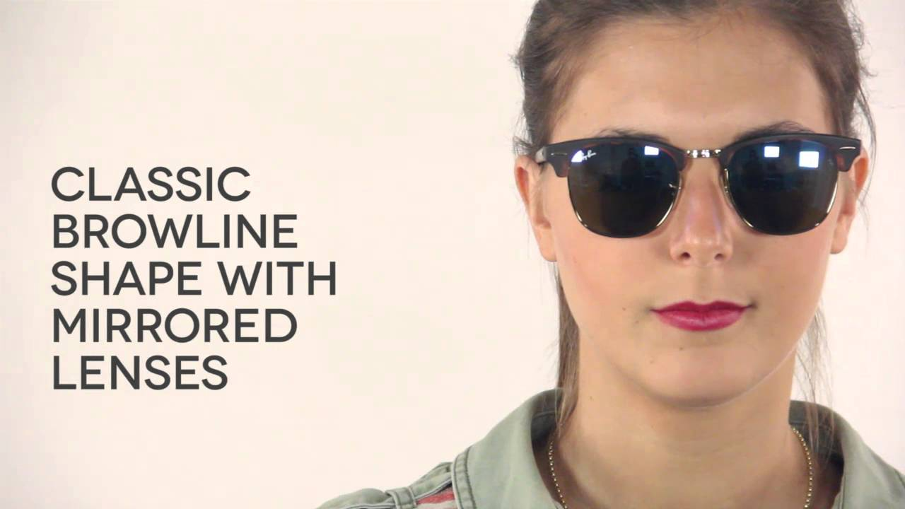 04c4cbf0a8a Ray-Ban RB3016 Clubmaster Flash Lenses 114517 Sunglasses Review ...