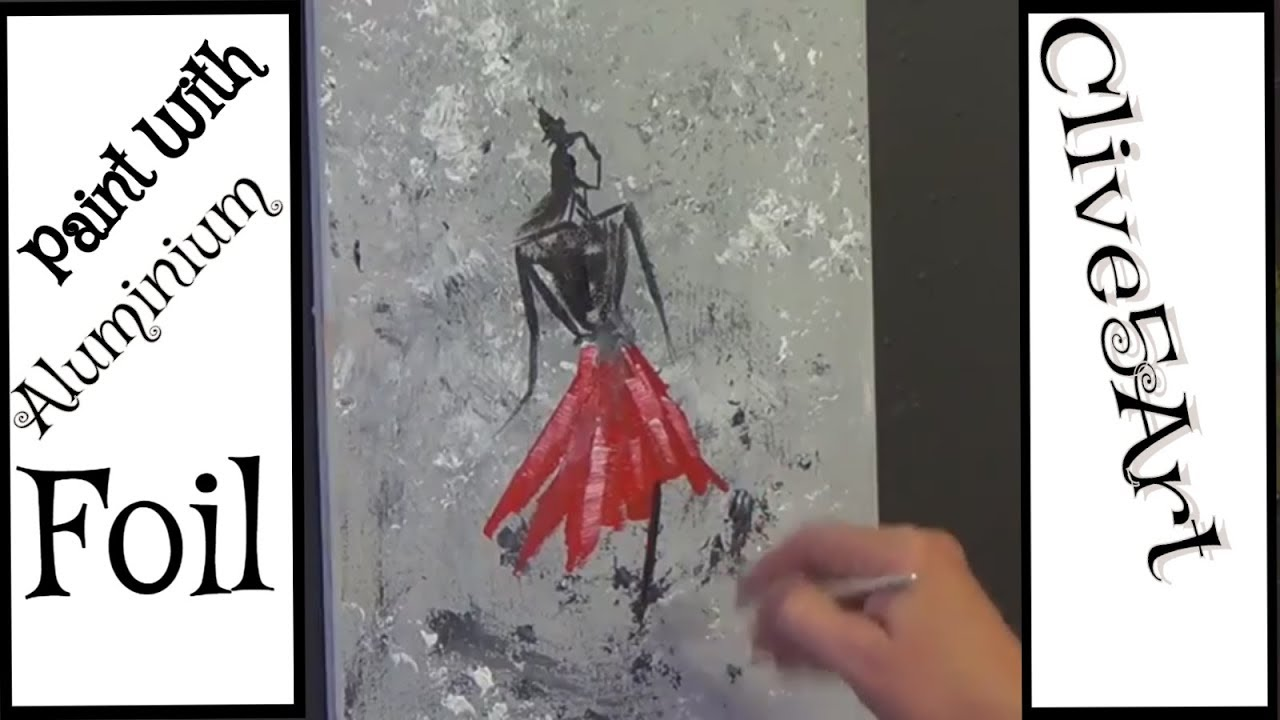 Abstract Painting Using Aluminum Foil Acrylic Painting For Beginners