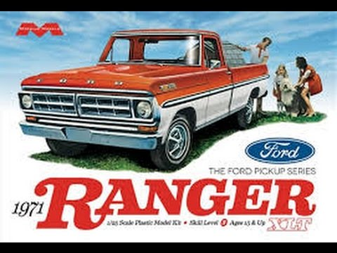 Moebius 1 25 1971 Ford F100 Ranger XLT Pickup Model Kit Review