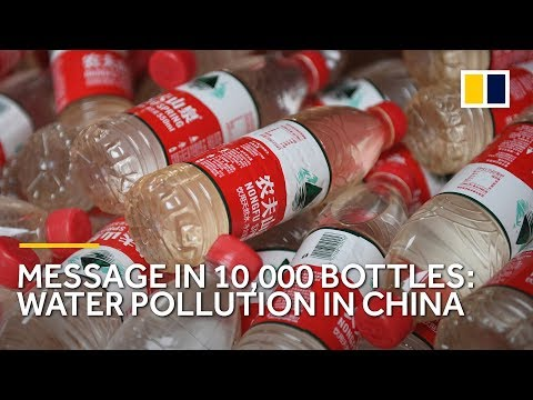 Artist fills 10,000 bottles with dirty water to highlight contamination in China