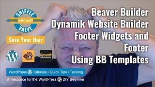 Beaver Constructeur + DWB + Genèse Thème de l'enfance - Widgets en bas de page et Pied de page à l'aide de Modèles de BB