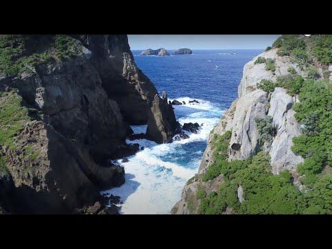 Kermadec Islands drone view. Raoul Island.