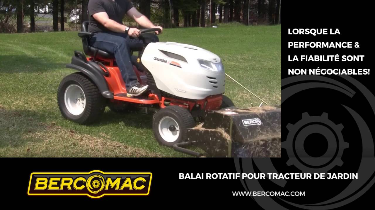 balai rotatif pour tracteur de jardin youtube. Black Bedroom Furniture Sets. Home Design Ideas