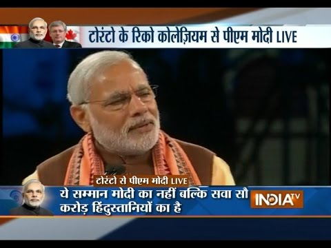 PM Modi's Canada Visit: Govt Changed 10 Months Ago, Now Indian People are Changing - India TV