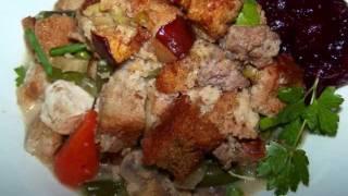 Sausage Stuffing Topped Chicken Pot Pie - Gluten Free
