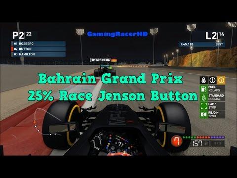 F1 2014 - Bahrain Grand Prix - 25% Night Race - McLaren (Jenson Button) 1080p HD
