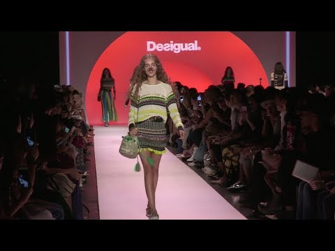 Models on the runway for the Desigual Ready to Wear Fashion Show in New York City