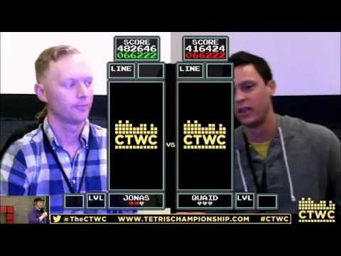 Finals  Jas Neubauer vs Sean Ritchie  Classic Tetris World Champiship 2015