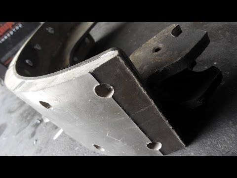 Как наклепать накладки на тормозные колодки