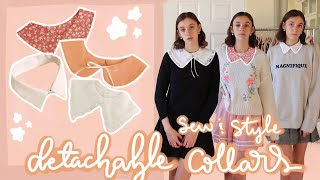 How To Make And Style Detachable Collars! | DIY (free printable pattern!)