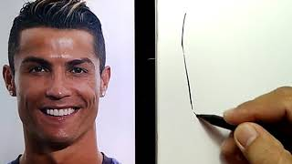 Dibujando a cristiano Ronaldo
