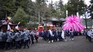 2014年4月6日 飛騨金山 下原八幡神社の祭り風景です。