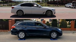 Bmw 530i xDrive vs Subaru Outback S-AWD - 4x4 test on rollers