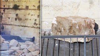 Falling Boulder Narrowly Misses Worshipper at Israel's Western Wall