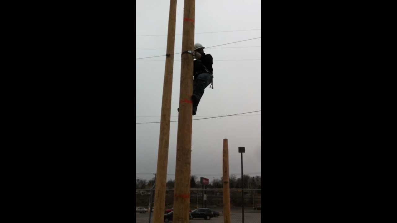 Pole Climbing At T Premises Technician Youtube