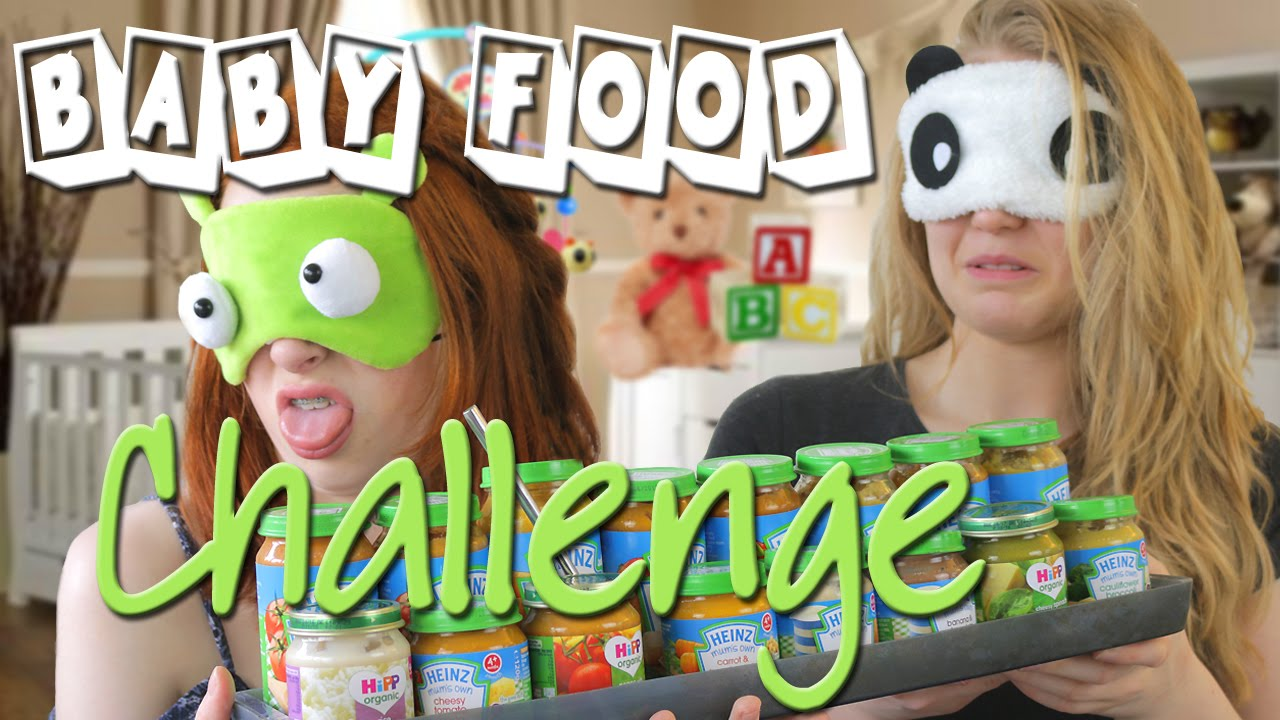 Blindfolded Tasting Baby Food Challenge Game Playing Whats In My Mouth Nilipod