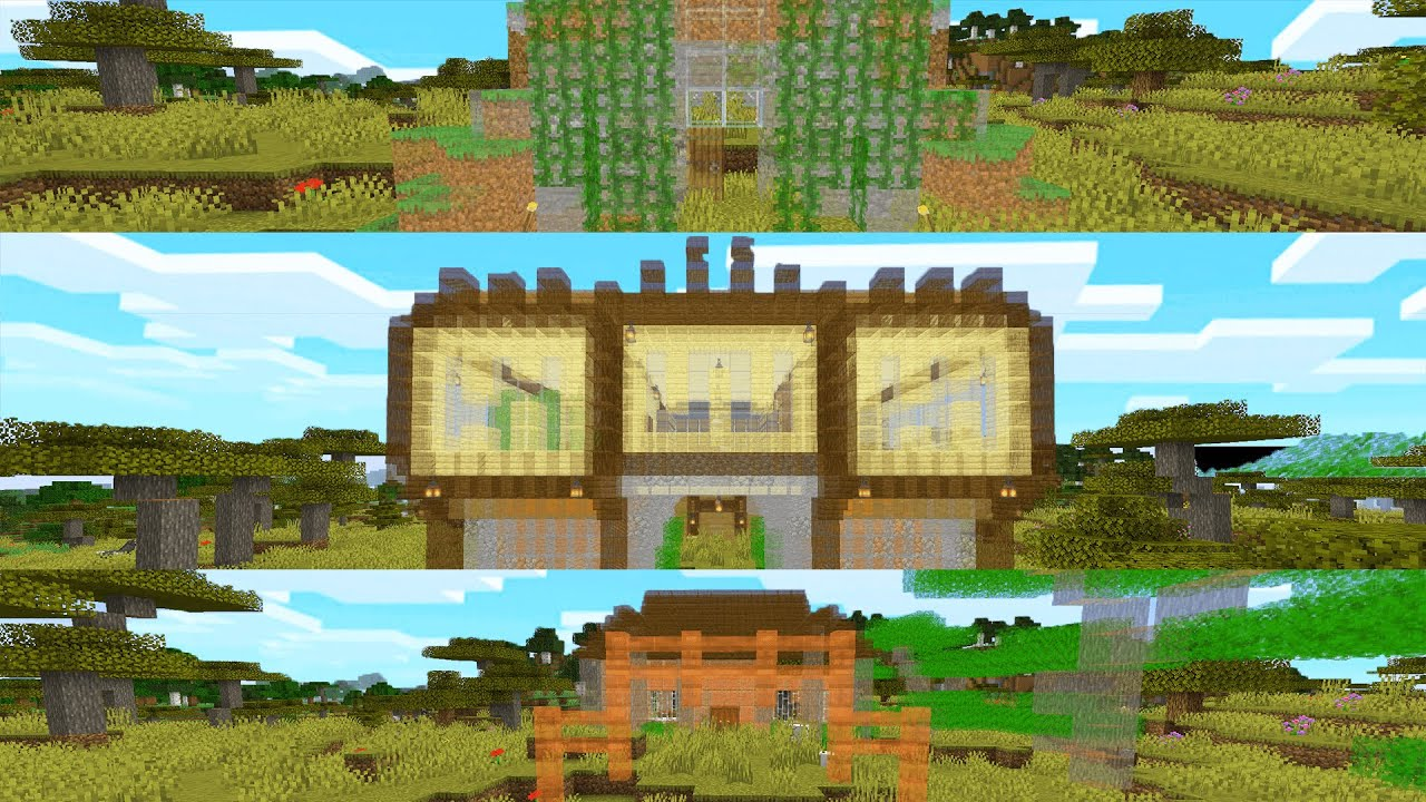 12 Houses to Cheat using Auto Build Mod in Minecraft