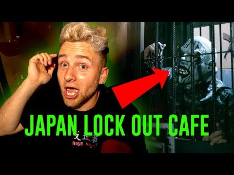 Locked In Jail With Creepy People - ( TOKYO'S CRAZIEST CAFE )