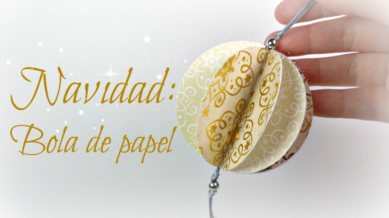 Bolas de papel 2 adorno de navidad mundo party youtube - Como hacer bolas para el arbol de navidad ...