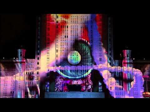 Альфа-Шоу 4D на здании МГУ. Лучшие моменты