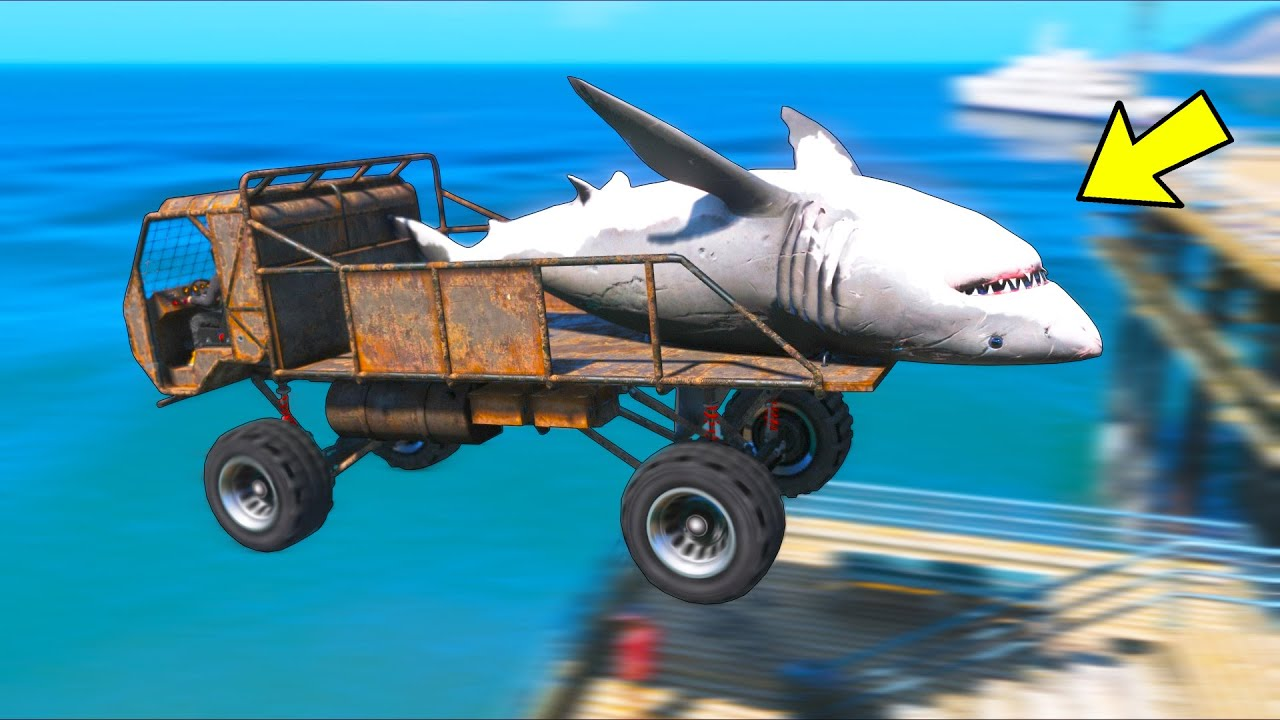 Saving a MANEATER SHARK... SORRY Los Santos!! (GTA 5 Mods)