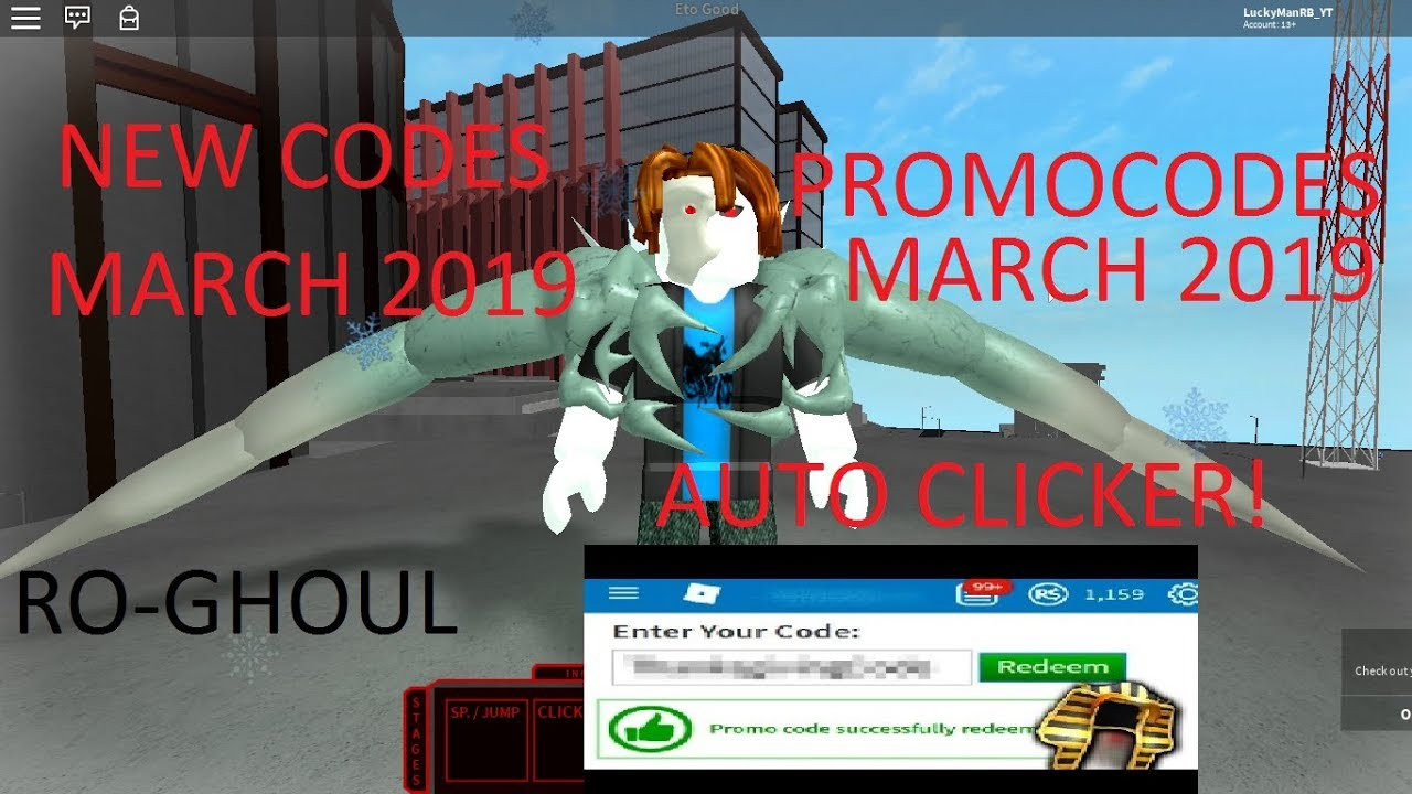 New Code March-June 2019 In RO-GHOUL | Auto Clicker | New Promocodes March  2019