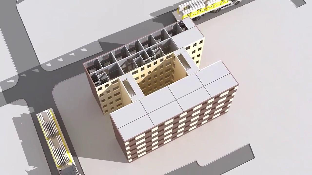 Precast Concrete Building Construction - YouTube