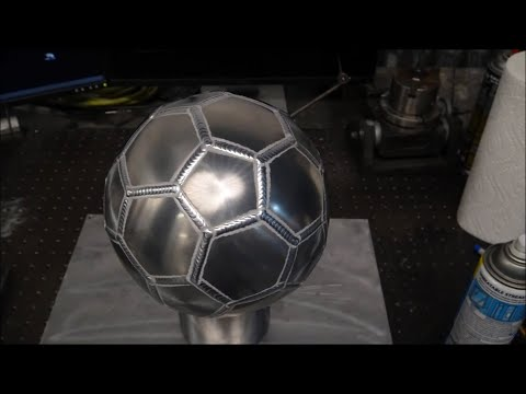 TIG Welding Aluminum Fabrication - Soccer Ball / Football- Sheet Metal Forming